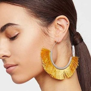 Free People Flamenco Tassel Hoop Earrings